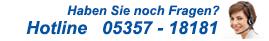 Telefon-Hotline - 05357 181 72